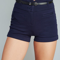 Chic High-Waisted Belted Shorts | Wet Seal