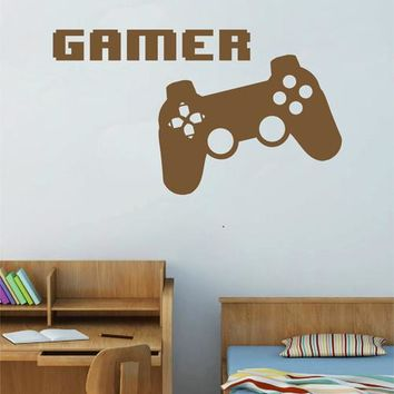 ik2543 Wall Decal Sticker controller console Xbox 360 Game PS4 player bedroom teens