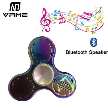Metal Wireless Bluetooth Speakers LED Music Fidget Hand Spinner Triangle EDC Focus Finger Relieve Anxiety Kids Adults Funny Toys