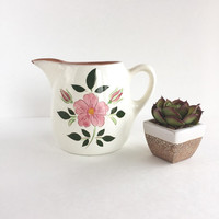 Vintage Stangl Pottery Wild Rose Creamer or Pitcher
