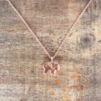 Rose Gold Ella Outline Necklace