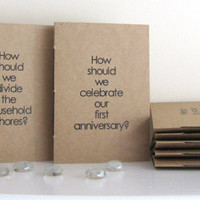 Wedding Guest Book - 8 Conversation Starters - Alternative Wedding Guest Book Set of 8 - Box - Rustic Wedding Questions Books