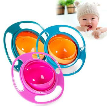 DCCKL72 1pcs Children Tableware Non Spill Bowl Toy Dishes Universal 360 Rotate Avoid Food Spilling Food Snacks Baby Shower