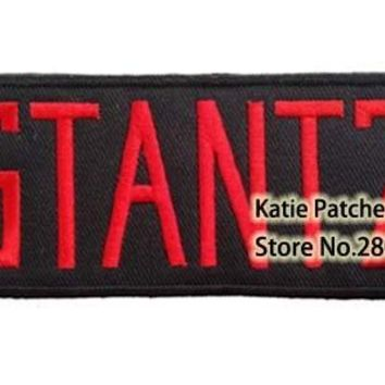 Tag Name Stantz Badge Fabric Clothing Patch, Movie Ghostbuster Fabric Badeg, Children DIY Embroidered Clothing Accessories