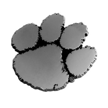 Clemson Tigers NCAA Chrome Car Emblem (2.3in x 3.7in)