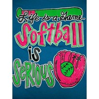 SALE Southern Chics Funny Softball Serious Youth Girlie Bright T Shirt