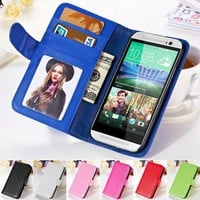HTC Dirt-resistant Fashion PU Leather Wallet Case 0931-97