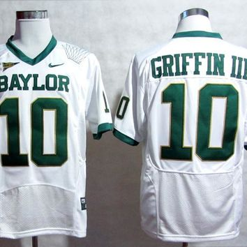 NIKE  Baylor Bears Robert Giffin III 10 White Pro Combat College Ice Hockey Jerseys Size M,L,XL,2XL,3XL