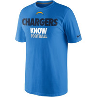 Nike San Diego Chargers Draft II T-Shirt - Light Blue