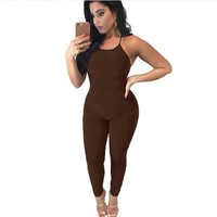 2016 new fashion sexy bodysuit women skinny backless Sling Siamese pants elegant slim  rompers and jumpsuits XD555