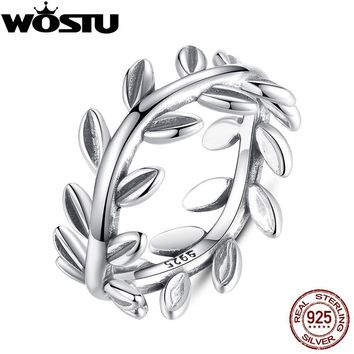 High Quality 100% 925 Sterling Silver Laurel Wreath Engagement Rings For Women Female Genuine Original Fine Jewelry Gift XCH7156