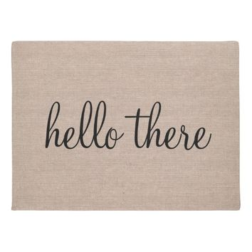 Hello there funny quote saying humor hipster burla doormat