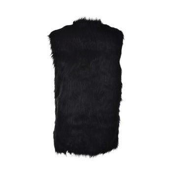 Arrival Warm Women Sleeveless Coat Fur Vest Faux Fur Coat Vest SM6
