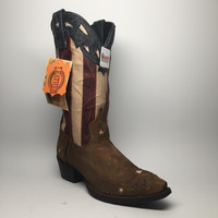 "Laredo Stars & Stripes Leather Cowboy Boots ""52165"""