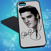 Celebrities Elvis Presley for iPhone 4, iPhone 5, Samsung S3 I9300, Samsung S4 I9500 Print Hard Case -  - Black - White (Option Please)
