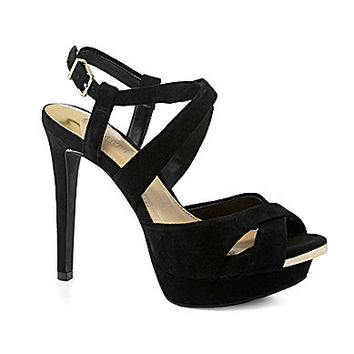 Gianni Bini Whitnie Crisscross Sandals - Black