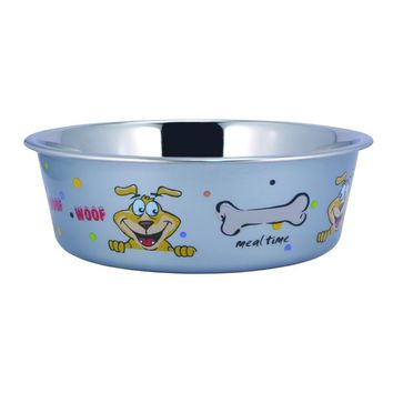 Sneaky Dog Design Stainless Steel Fusion Bowl  Small By Boomer N Chaser