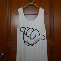 mickey hands call disney Tank Top  === size S L M XL 2XL 3XL, tanktop  for men