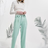 Buttoned Flowing Trousers