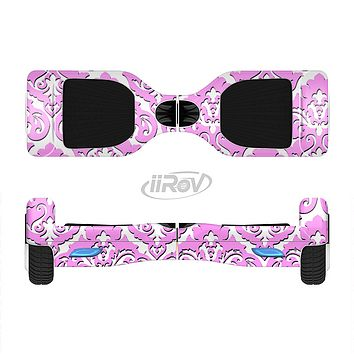The Pink & White Delicate Pattern Full-Body Skin Set for the Smart Drifting SuperCharged iiRov HoverBoard