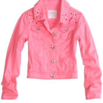 Embellished Denim Jacket | Girls Jackets Outerwear | Shop Justice