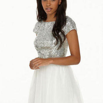 Madison Sequin Top, Tulle Bottom Party Dress