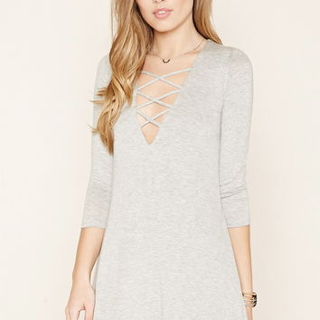 Crisscross-Front Mini Dress