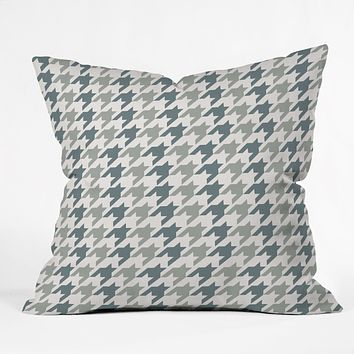 Allyson Johnson Classy Blue Houndstooth Throw Pillow