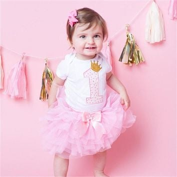 Newborn Baby Girl Clothes Dress Toddler Girls First Birthday Outfits Baby Party Clothing Formal Dress for Girl Christmas Gift