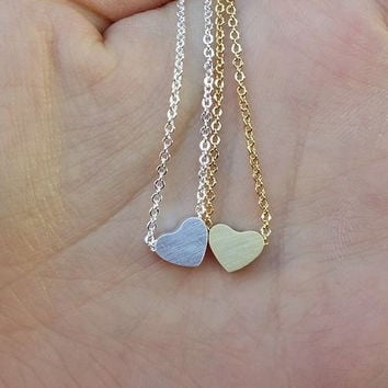 Heart Necklace | Heart Pendant Minimalist Jewelry Simple Necklace Everyday Fashion Cute Necklace