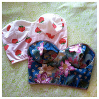 bustier crop top (you choose size and fabric)
