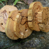 Spalted Maple Tree Branch Buttons Perfect by TimberWoodsWares