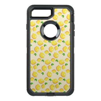 Lemon Pattern OtterBox Defender iPhone 7 Plus Case
