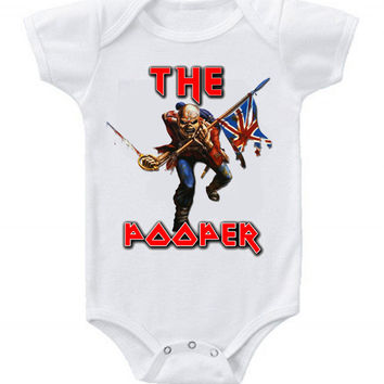 NEW Cute Iron Maiden Baby Bodysuits Onesuit The Pooper One Piece