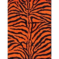 Orange Zebra Shag Area Rugs