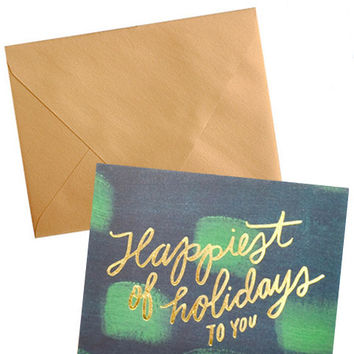 Happiest Holidays Boxed Card Set