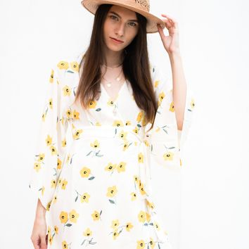 Relax Floral Wrap Dress