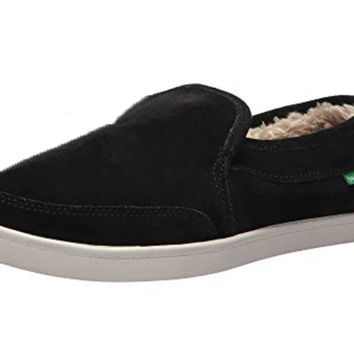 Sanuk Pair O Dice Chill Black Slip On Shoes