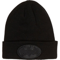 River Island Boys black Batman beanie hat