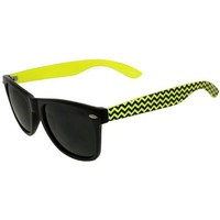 Wayfarer Style Sunglasses with ZigZag Design Arms