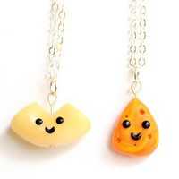 Handmade Macaroni and Cheese Best Friend Necklaces - Whimsical & Unique Gift Ideas for the Coolest Gift Givers