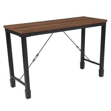 Brentwood Collection Console Table with Industrial Style Steel Legs