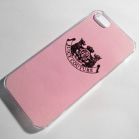 Juicy Couture iPhone 4/4S Case - Pink with Black Logo