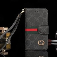 GUCCI Fashion Luxury Supreme Sliver Mirror Case For iPhone X 8 8Plus 7 7Plus 6 6s 6Plus 6s Plus