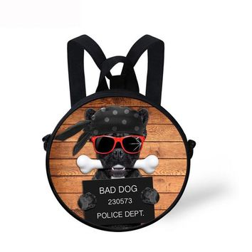 Cool Backpack school Noisydesigns cool dog funny rugzak meisje Bags Children Mochila Infantil Kindergarten Baby Round Design Backpacks Kid Travel Bag AT_52_3