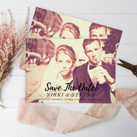 Save The Date Photo - Save the Date, Printable Photo Save the Date Card, Wedding Custom Save the Date Photograph, Script Type Save the Date