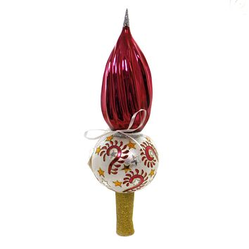 Tree Topper Finial CARNIVAL TREE TOPPER Glass Christmas Stars T1006