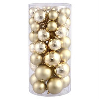 "50 Christmas Ball Ornaments - 6 ""  - Gold"