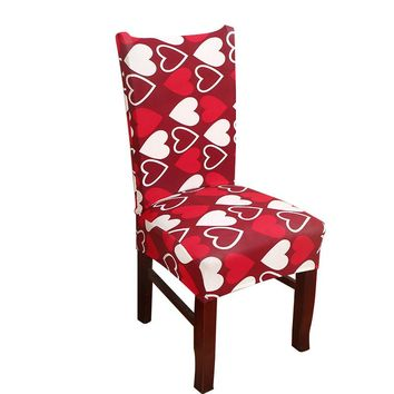MECEROCK Removable Printing Spandex Stretch Chair Cover Elastic Band Covers for Restaurant Wedding Banquet Hotel Dining Chair