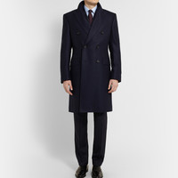 Kingsman - Double-Breasted Herringbone Wool Overcoat | MR PORTER